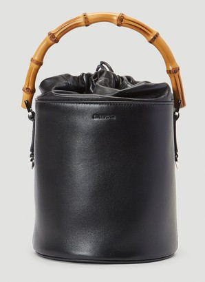 Jil Sander Bamboo Handle Bucket Bag