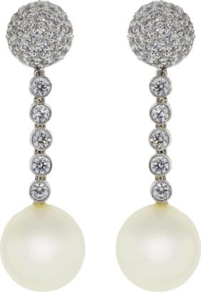 FANTASIA Pearl Ball Drop Clip Earrings