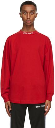 Palm Angels Red Logo Long Sleeve T-Shirt