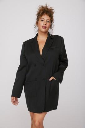 Nasty Gal Womens That Works for Me Plus Blazer Dress - Black - 16