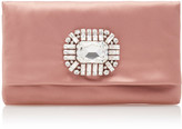 Jimmy Choo Titania Embellished Satin Clutch