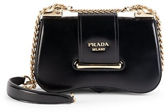 Prada Sidonie Patent Leather Crossbody Bag