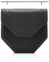 M2Malletier Amor/Fati Cross Body Black Leather Bag