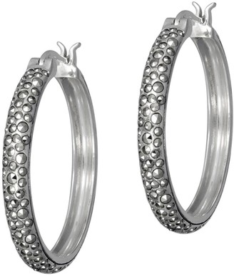 Suspicion Sterling Marcasite Hoop Earrings