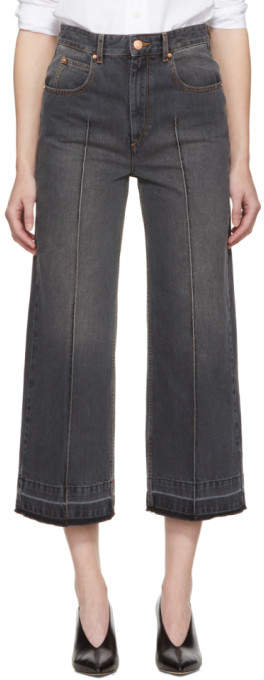 Etoile Isabel Marant Grey Cabrio Wide-Leg Jeans