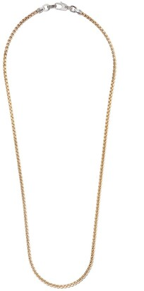 John Hardy 18kt Yellow Gold And Sterling Silver 3.7mm Box Chain Necklace