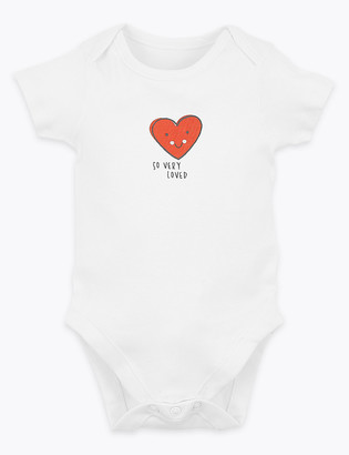 Marks and Spencer Cotton So Very Loved Slogan Bodysuit (7lbs-12 Mths)