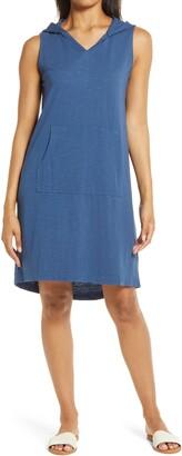Caslon Hooded Knit Tank Dress