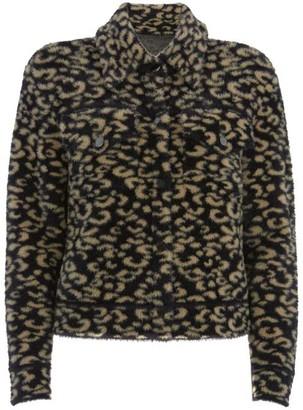 Mint Velvet Leopard Print Knitted Jacket