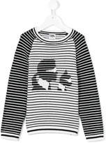 Karl Lagerfeld striped and Choupette top