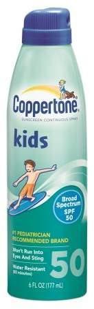 Coppertone Kids Sunscreen Continuous Spray, SPF 50
