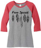 Red & Gray Frost 'Free Spirit' Raglan Tee