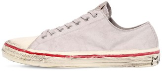 Marni Olona Cotton Canvas Low-Top Sneakers