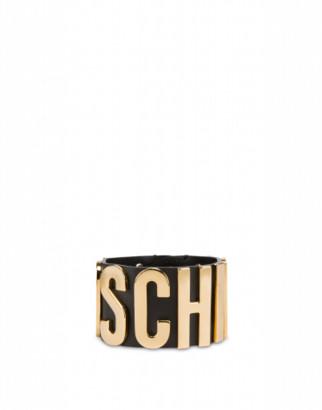 Moschino Calfskin Logo Lettering Bracelet