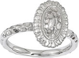 JCPenney FINE JEWELRY Personally Stackable Sterling Silver Sunflower Ring