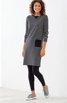 J. Jill Striped Knit Boat-Neck Dress