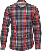 Duck and Cover Mens Robinson Long Sleeve Shirt Mars