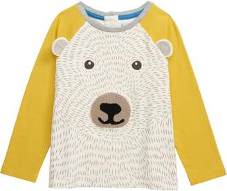 Boden Mini Textured Bear Tee