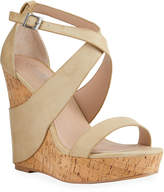 Charles by Charles David Atlantis Faux Leather Cork Wedge Espadrilles