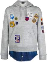 DSQUARED2 patch appliqué hoodie