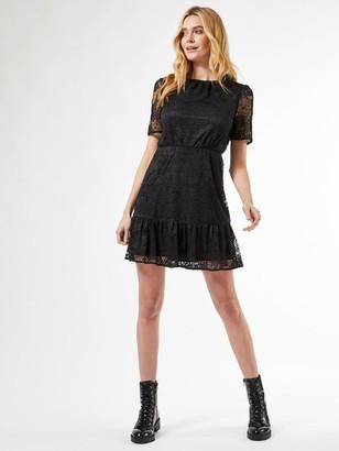 Dorothy Perkins Lace Smock Dress - Black