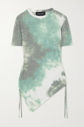 ANDERSSON BELL Cindy Asymmetric Tie-dyed Modal-blend T-shirt - Army green
