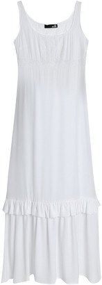 Love Moschino Lace-trimmed Tiered Woven Midi Dress