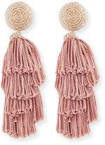 Sachin + Babi Chacha Fringe Clip Statement Earrings