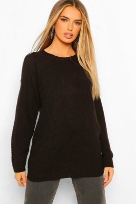 boohoo Cold Shoulder Oversized Jumper