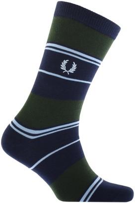 Fred Perry Stripe Logo Socks Green