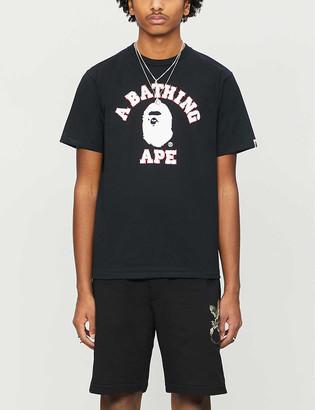 A Bathing Ape College Swarovski-detail cotton-jersey T-shirt