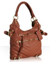 tobacco leather 'Dylan Patchwork' tote