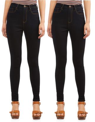 No Boundaries Juniors' High Rise Skinny Jeans, 2-Pack Bundle