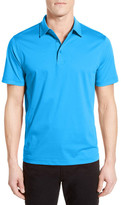 Bugatchi Short Sleeve Solid Regular Fit Polo