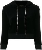 Juicy Couture Exclusive Swarovski embellished velour hoodie