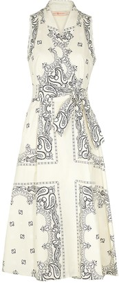 Tory Burch Printed cotton wrap dress