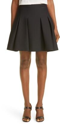 Valentino Pleated Virgin Wool & Silk Skirt