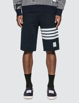 Thom Browne Classic 4-Bar Stripe Sweat Shorts
