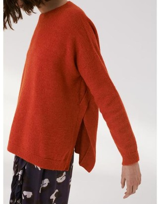 Sita Murt Orange Sweater With Open Sides - 38