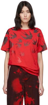 McQ Red Swallow Boyfriend T-Shirt
