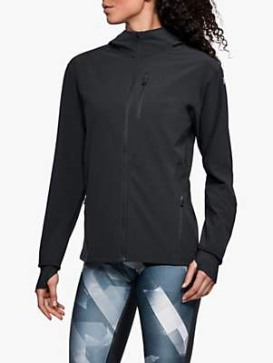 Under Armour Outrun The Storm Women's Running Jacket, Black/Reflective