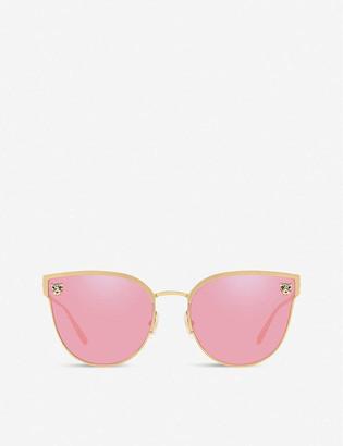 Cartier CT0198S Panthere De metal acetate cat eye-frame sunglasses