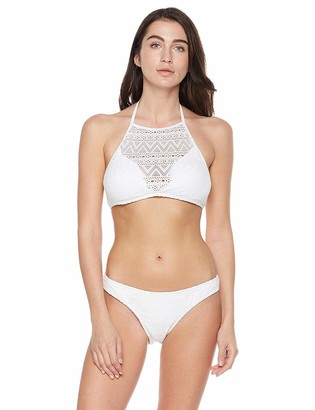 Private Label Bloom Muse Women's High Neck Halter Bikini Set Crochet Bathsuit Two Piece Swimsuit (L