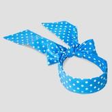 Cat & Jack Girls' Overlap Polka Dot Bow Headband Cat & Jack - Blue