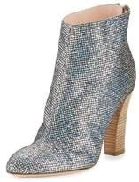 Sarah Jessica Parker Minnie Sequined Almond-Toe Bootie, Scintillate Silver