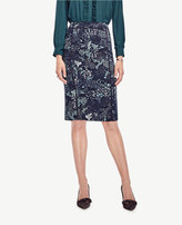 Ann Taylor Petite Forest Pencil Skirt