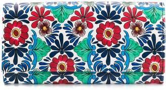 Escada floral print foldover purse