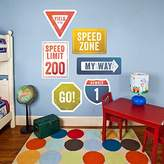 Oopsy Daisy Fine Art For Kids Road Signs Peel and Place, Multired, 54 x 30