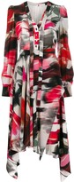Alexander McQueen abstract print shirt dress