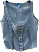 Christian Lacroix Blue Denim - Jeans Top for Women Vintage